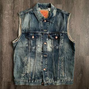 (EUC) LEVIS Jean Denim Vest Men's (XL)